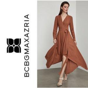 BCBGMaxAzria Handkerchief Hem Wrap Dress
